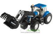 Tractor de juguete NEW HOLLAND T8040 con pala escala 1:16