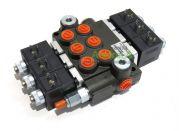 """Distribuidor Hidráulico eléctrico 3 cuerpos 3/8"""" doble efecto circuito abierto"""