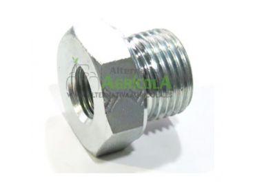 """Tapón reductor alta presión hidráulica hembra 1/4"""" macho 1/2"""""""