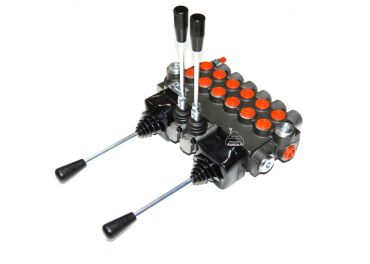 Distribuidor hidráulico 6 funciones 2 joystick + 2 manuales doble efecto
