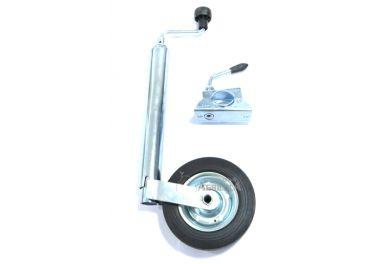Apoyo mozo rueda jockey con abrazadera para remolques de 750kg