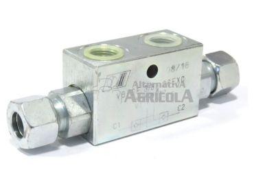 """Válvula seguridad anti retorno 3/8"""" para tercer punto hidráulico"""