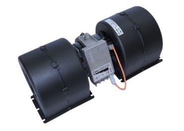 Electro Ventilador aire centrífugo marca SPAL 24v 2 ejes 4 vel. para cabinas