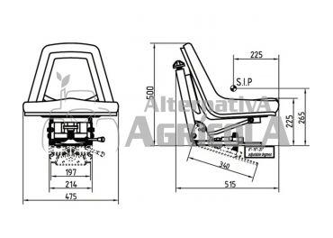 Asiento PVC suspensión mecánica