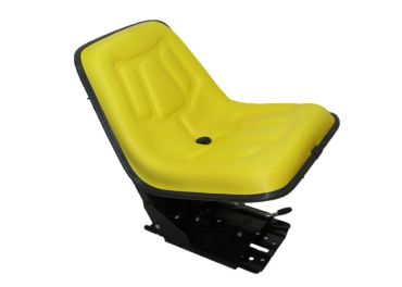 Asiento amarillo para tractor John Deere base inclinada