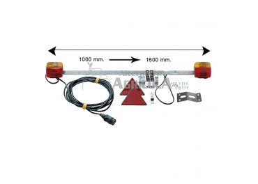 Barra extensible de pilotos 100/160 cm con 7,5 m cable
