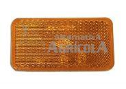 Catadióptrico naranja adhesivo rectangular - 70 x 42 mm