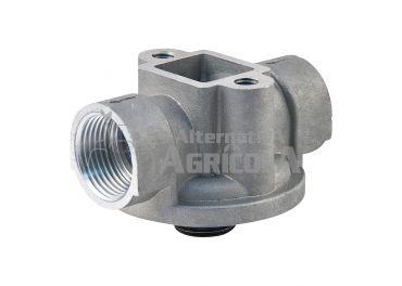 "Cabezal soporte aluminio hembra 1"" rosca filtro macho 3/4"" para filtro de gasoil"
