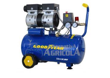 Compresor Eléctrico Silencioso Goodyear GY251OF 24L 1HP 140L/MIN