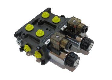 Electroválvula selectora 3/8 8 vias 12v apiladas