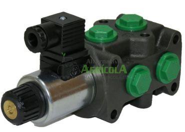 """Selectora electroválvula hidráulica 1/2"""" 6 vias 12v Roquet"""